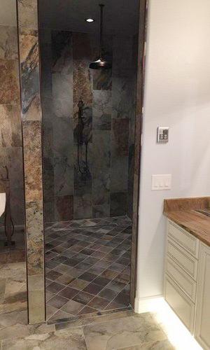 Tampa master bath remodel plumbing